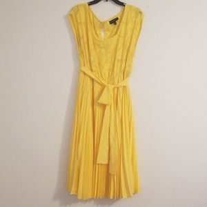 Lane Bryant Yellow Midi Dress Size 14/16